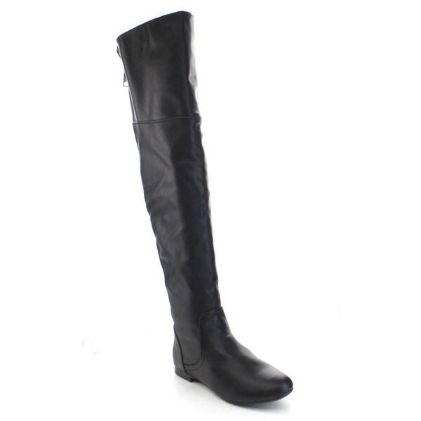 Bamboo Tiara-45 Women's Low Heel Back Zipper Over The Knee Riding Boots
