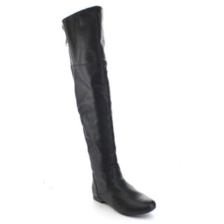 Bamboo Tiara-45 Women's Low Heel Back Zipper Over The Knee Riding Boots