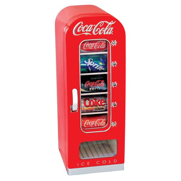 Koolatron CVF18 10 can Coca Cola Retro Vending Fridge