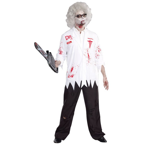 Dream Girl 9902 Men's Dr. Hugh B. Dead 4-piece Zombie Halloween Costume Set