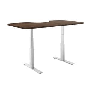 Premium Standing Desk, Grey Frame, Ergonomic Wood Table Top, Programmable Memory Pad
