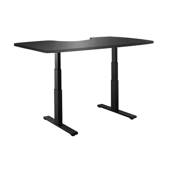 Premium Standing Desk, Black Frame, Ergonomic Wood Table Top, Programmable Memory Pad