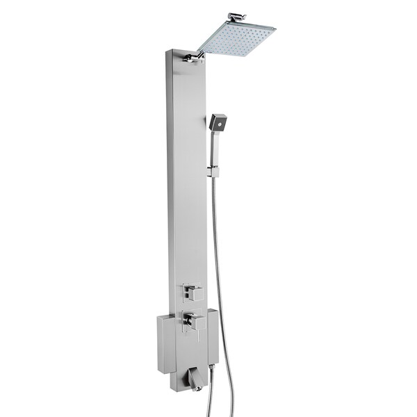 """AKDY 48"""" Stainless Steel Rainfall Style Wall Mount Multi-Function Shower Panel Tower System 16145303"""