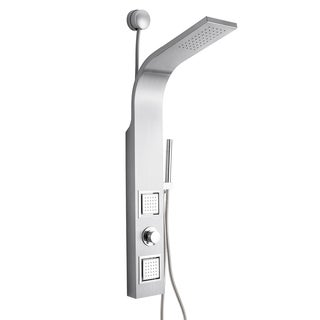 """Golden Vantage 39"""" Stainless Steel Easy Connection Water Massage Rainfall Wall Mount Multi-Function Shower Panel Tower System"""