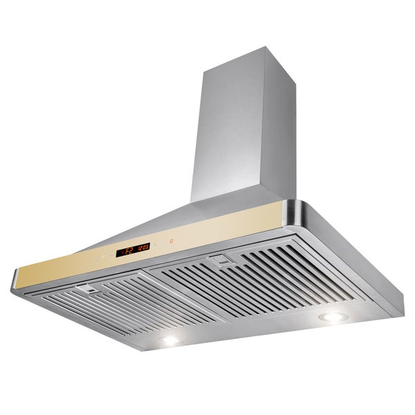 """AKDY 30"""" Wall Mount Stainless Steel LED Touch Control Panel Kitchen Range Hood Kitchen Cooking Fan"""