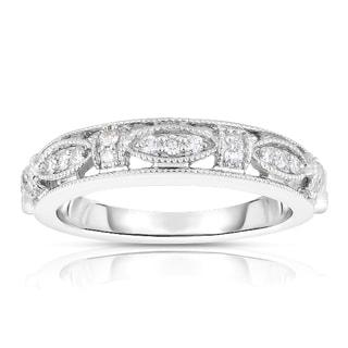 Eloquence 14k White Gold 1/6ct TDW Diamond Fashion Band (H-I, SI1-SI2)
