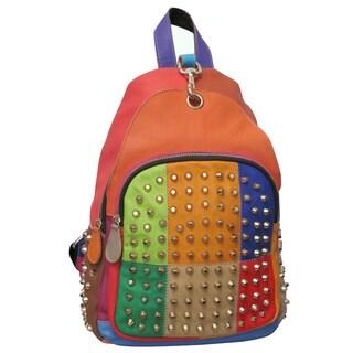 Amerileather Borka Rainbow Leather Backpack