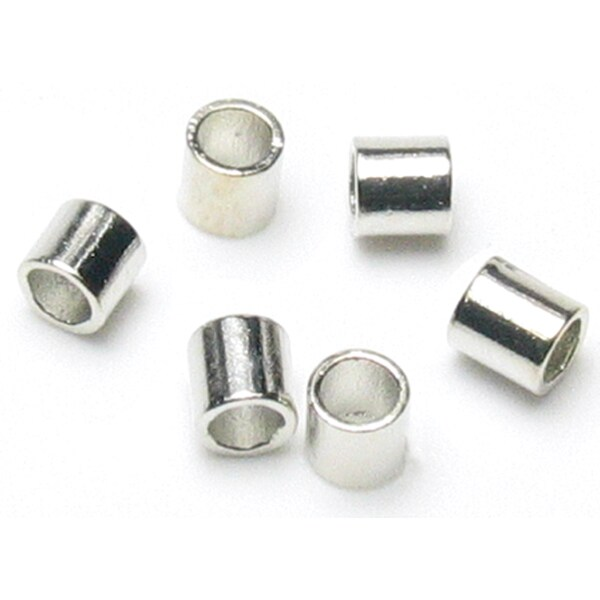 Jewelry Basics Metal Findings 500/PkgSilver Crimp Tubes 2mm