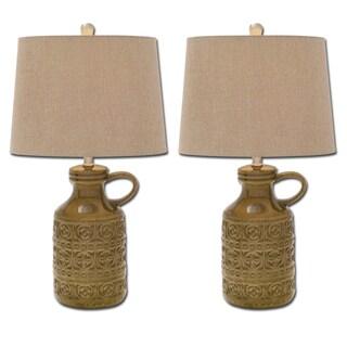 Moroccan Water Jug Polystone Table Lamp (Set of 2)