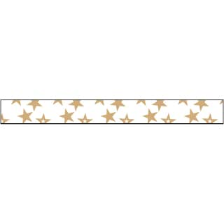 Glitter Ribbon .375inX3ydGold Stars