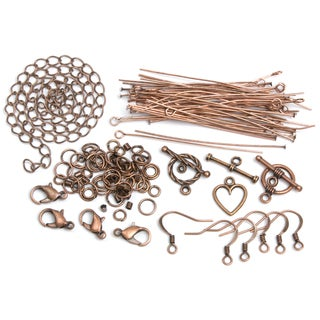 Jewelry Basics Metal Findings 145/PkgCopper Starter Pack