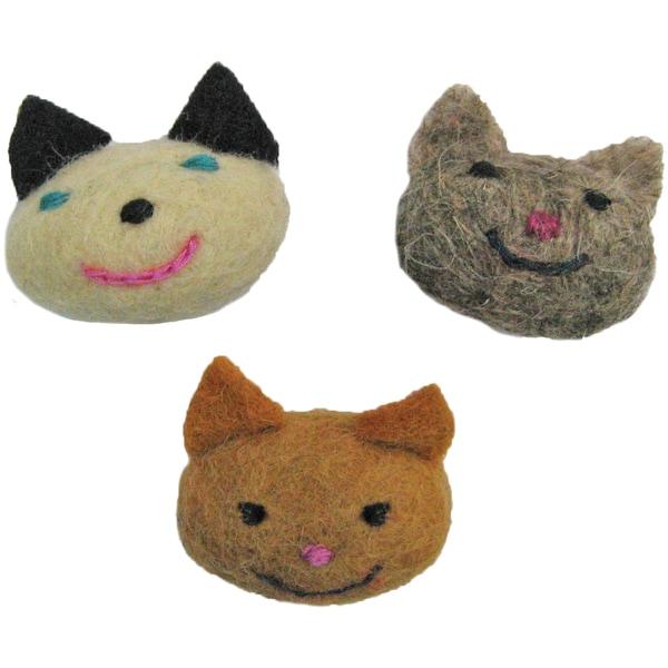 Feltworks Kitties3/Pkg