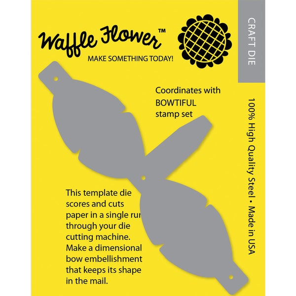Waffle Flower DieMailable 3D Bow Template