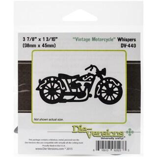 DieVersions Whispers DieVintage Motorcycle, 3.875inX1.8125in