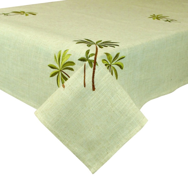 Palm Trees Embroidery Tablecloth