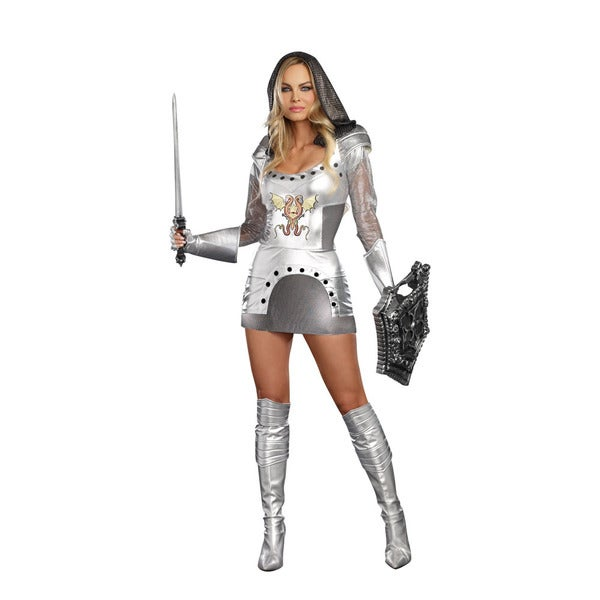 Dream Girl 9846 Women's Knight Time 2-piece Knight Halloween Costume Set