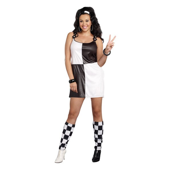 Dream Girl 9859x Women's Yeah Baby 3-piece 60's Halloween Costume Set