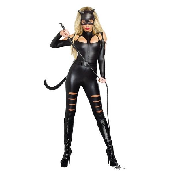 Dream Girl 9959 Women's Cat Fight 3-piece Halloween Costume Set