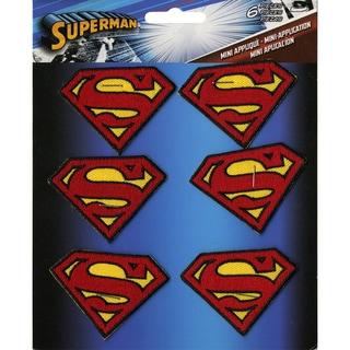 DC Comics PatchSuperman Insignia 2inX1.5in 6/Pkg