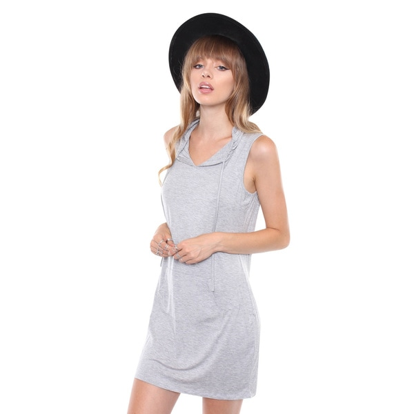 Juniors' Contemporary Heather Grey Hoodie Midi Dress