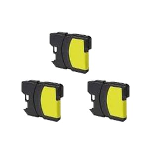 Brother LC61 Y/ LC65Y Compatible Inkjet Cartridge for MFCAN-5490CN MFCAN-5890CN MFCAN-6490CW MFCAN-790CW (Pack of 3)