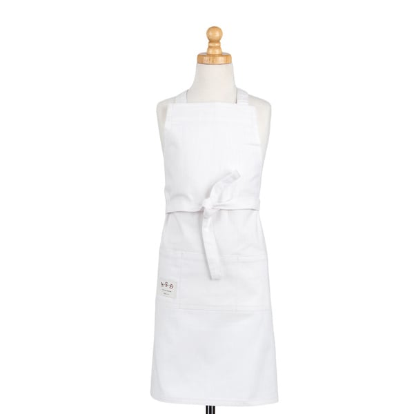 Kids Butcher Apron White Denim