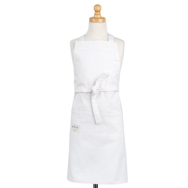 Junior Butcher Apron Denim White