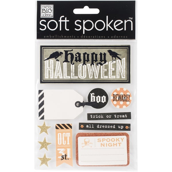 Soft Spoken Themed EmbellishmentsHalloween Beware
