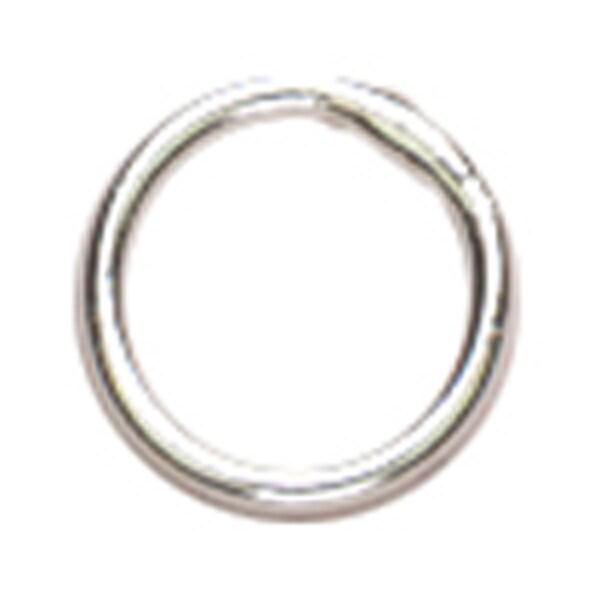 Sterling Elegance Genuine 925 Silver Beads & FindingsClosed Jump Rings 6mm 16/Pkg