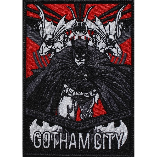 DC Comics PatchBatman Gotham City 4inX3in