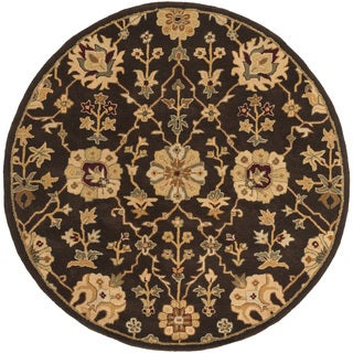 Hand-Tufted Amble Floral Wool Rug (6' Round)