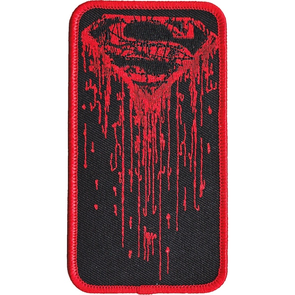 DC Comics PatchDrippy Superman Logo 4.5inX2.5in