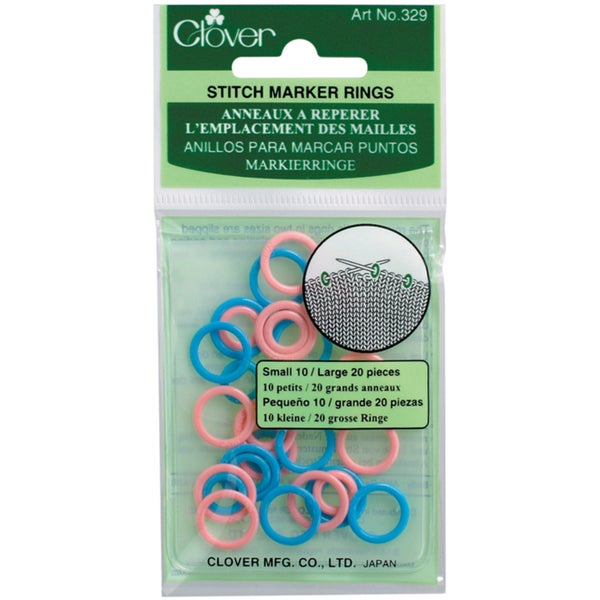 Stitch Marker RingsSmall/Large 30/Pkg