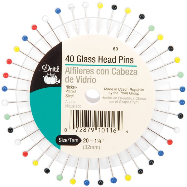 Glass Head PinsSize 20 40/Pkg