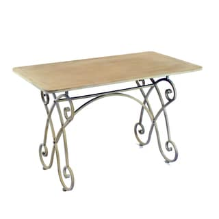 """Montgomery Metal Dining Table With Wood Top 47"""" Wide"""