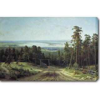 Ivan Shishkin 'Kama Near Yelabuga' Oil on Canvas Art