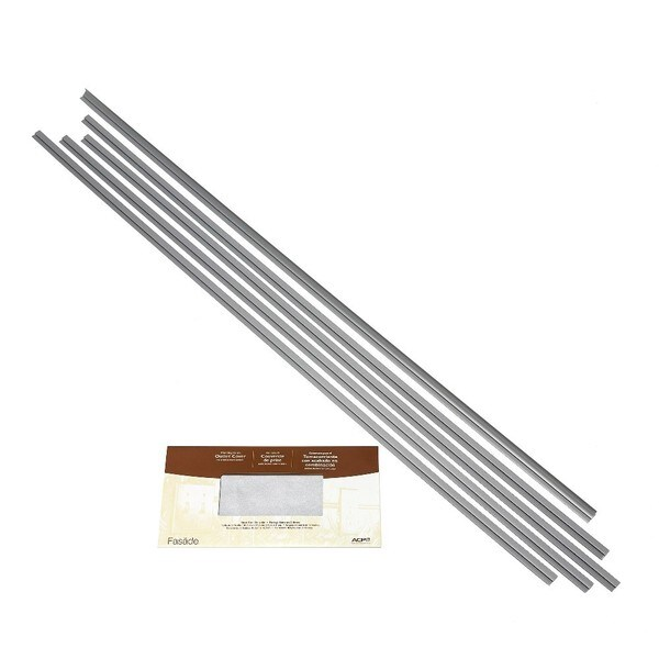 Fasade Backsplash Accessory Kit Argent Silver