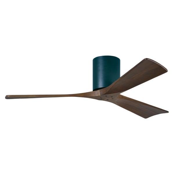 Matthews Fan Company Irene-3 Hugger 52 inch 3-blade Paddle Black Ceiling Fan 16147537