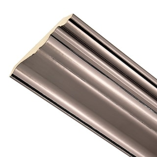 Classic 8-Foot Wood Ceiling Crown Brushed Nickel