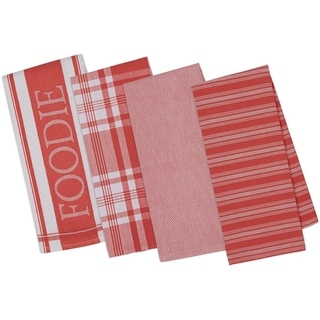 Foodie Gourmet Kitchen Dishtowel (Set of 4)