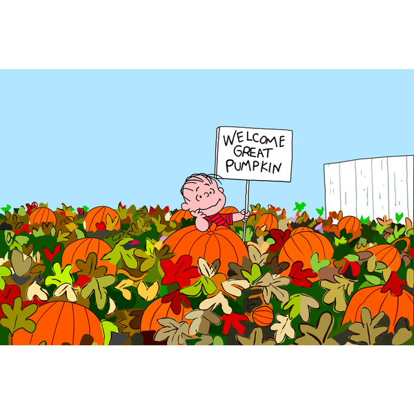 "Marmont Hill - ""Welcome Great Pumpkin"" Peanuts Print on Canvas"