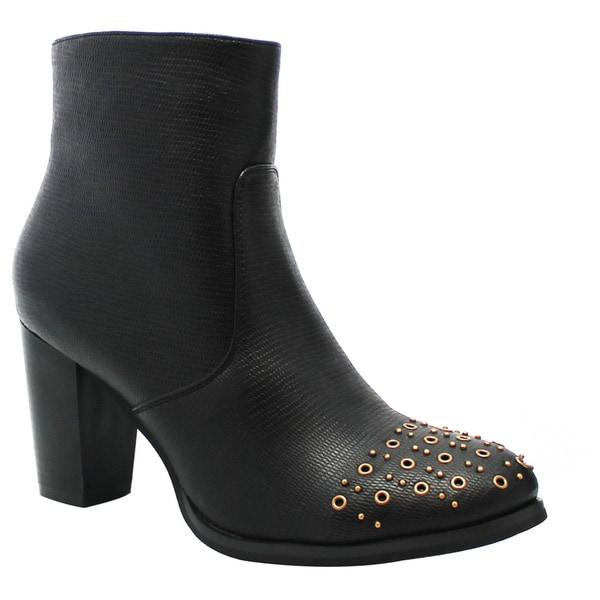 Olivia Miller 'Cortlandt' Front Multi Studded Grommet Ankle Booties