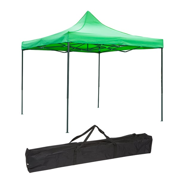 Trademark Innovations Lightweight and Portable 10-foot x 10-foot Canopy Tent (Lime Green)