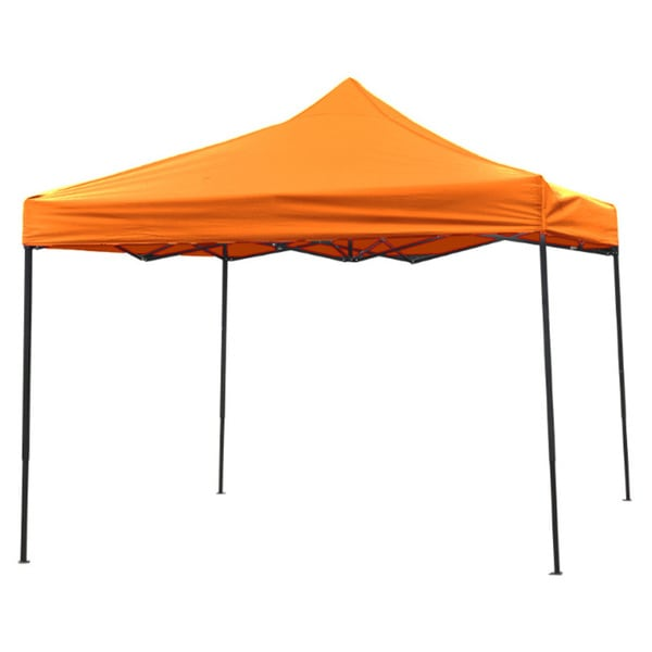 10ft by 10ft Collapsible Canopy Event Set Up Portable and Lightweight Orange