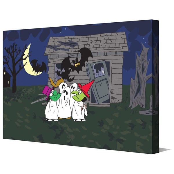 "Marmont Hill - ""Peanuts Haunted House"" Peanuts Print on Canvas"