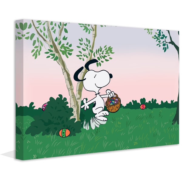 "Marmont Hill - ""Easter Egg Hunt"" Peanuts Print on Canvas"