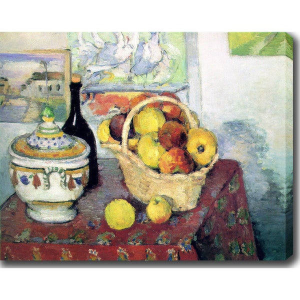 Paul Czanne 'Still Life With Soup Tureen' Oil on Canvas Art