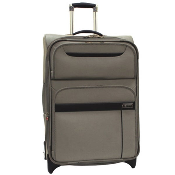 Samboro Executive Lite Taupe 26-inch Lightweight Expandable Spinner Suitcase