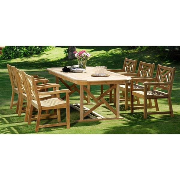 Alor Teak 7-piece Dining Table Set