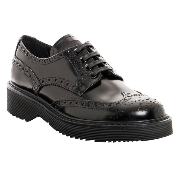 Prada Women's Leather Platform Oxfords
